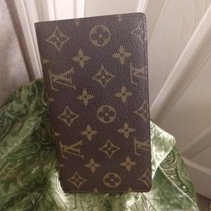 Louis Vuitton Old Style Checkbook Long Wallet